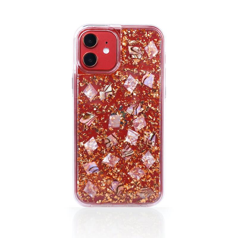 LANIS貝殼系列- 24k透底玫瑰金i12紅
